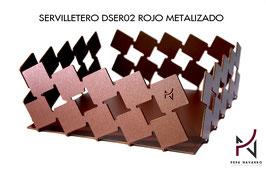 Servilletero DSER02 ROJO METALIZADO