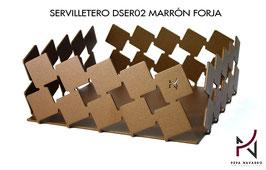 Servilletero DSER02 MARRÓN FORJA