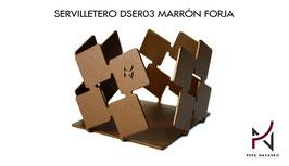 Servilletero DSER03 MARRÓN FORJA