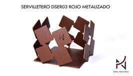 Servilletero DSER03 ROJO METALIZADO