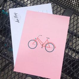 "Postkarte ""Velo"""
