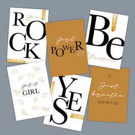 Powerkaarten - set van 6 ex