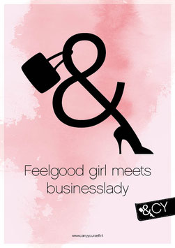 Poster Feelgood girl - Sticky Canvas A4