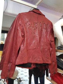 Freay Nation Damen Lederjacke Rot  Art. 320011