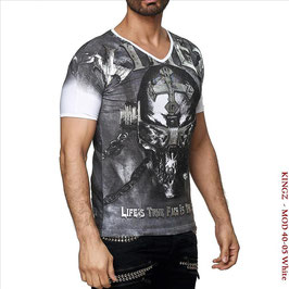 Kingz Herren T-Shirt Black/Silver  MOD-40-05