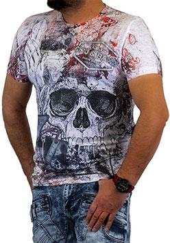 cipo&baxx Herren T-Shirt Ecru CT536