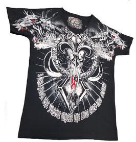 Kingz T-Shirt Schwarz Silber MOD 40-03