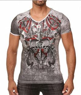 Kingz Herren T-Shirt MO 36-03 White Silber