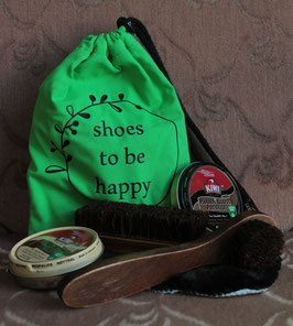 Schuh/Stiefelputzset - Shoes to be happy -