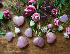 Любовный камень - Сердце из розового кварца ( средний размер)