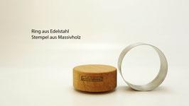 Edelstahl/Nussbaum, geölt Art.1707181201
