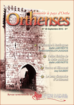 ORTHENSES N°26 - Septembre 2015