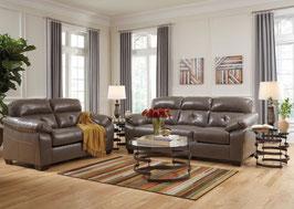 Sala de Estar Piel Bastrop Steel Sofa y Love Seat