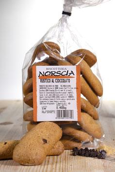 Biscottone Rustico al cioccolato - scatola con 10 confezioni da 400 grammi