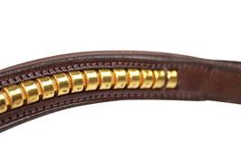 Exklusiv Stirnriemen -braun //Gold Stone