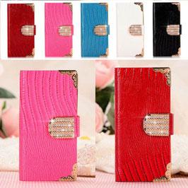 商品名iphone 6/5/5s 5色 財布カードホルダーニース女性用restroのluxcyトカゲグレインレザーケース