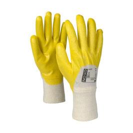 Arbeitshandschuhe, mit gelber Nitrilbeschichtung,