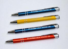 Hochwertige Metallkugelschreiber (oder Soft-Touch) mit Gravur