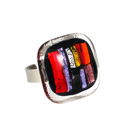 "Glasschmuck-Ring ""Art and Style"""