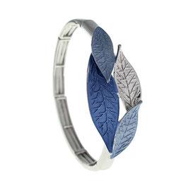 """Armband """"Blattgeflüster   blau"""""""