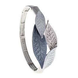 "Armband ""Blattgeflüster | grau """