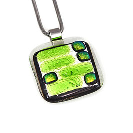 "Glasschmuck-Collier ""Green Elegance"""