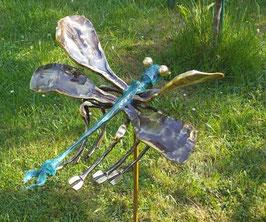 Libelle aus Messing Garten Deko Balkon oder Wand