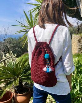 Zainetto Crochet - red malaga
