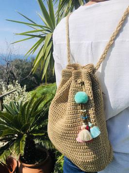 Zainetto Crochet - beige