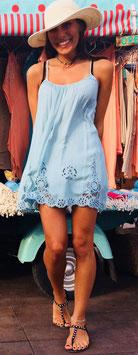 SHORT DRESS/TOP LILA - celeste