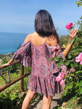 SHORT Dress PARADISE - ASH ROSE