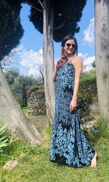 Dress MARGHERITA IKAT - BLACK