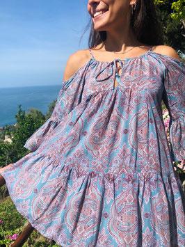 SHORT Dress PARADISE - TURQUOISE