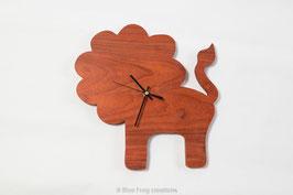 Lion Clock - Padauk