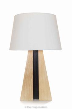 Table Lamp Pyramid - Beech/Wenge - Cove Lamp Shade