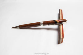 Slimline Twist Pen - Azobe with Belgian colors