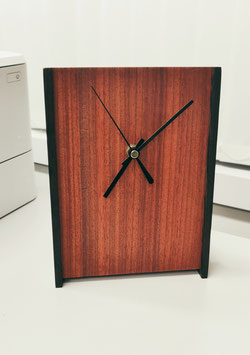 Floating Desk Clock - Padauk & Wenge sides