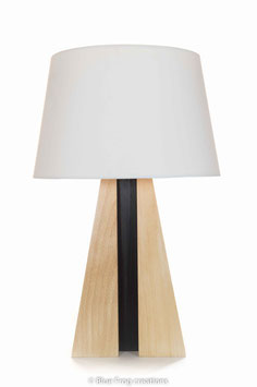 Tafellamp Pyramid - Beuk/Wenge - Conische Lampenkap