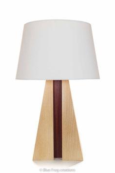 Tafellamp Pyramid - Beuk/Padauk - Conische Lampenkap