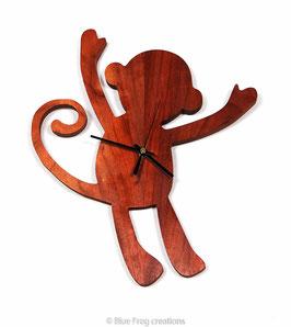 Monkey Clock - Padauk