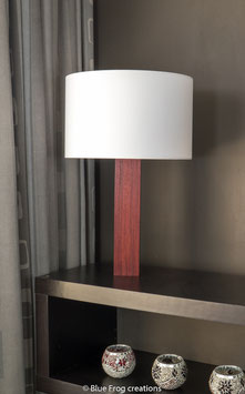 Table Lamp Sira - Padauk - Cilinder Lamp Shade