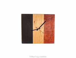 Klok met belgische kleuren - Wenge/Eik/Padauk