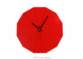 Red Dodecagon clock