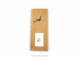 Clock with picture frame - Oak