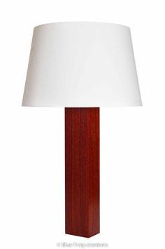 Tafellamp Sira - Padauk - Conische Lampenkap