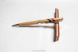 Slimline Twist Pen - Oak with Belgian colors