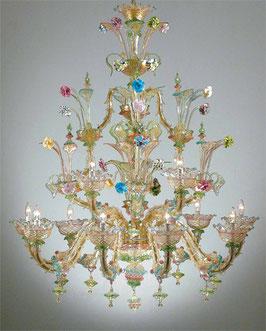 Cherubini Murano chandelier Ca'Rezzonico