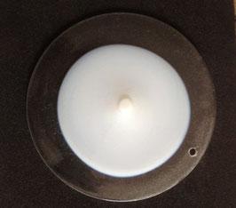 Murano opalescent  blown glass disk