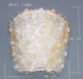 Roxette, Applique, wall lamp,  with gold crystal rosettes