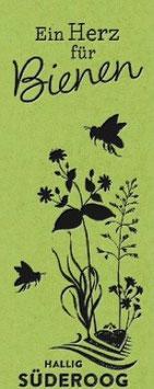 Lesezeichen aus Naturkarton mit Letterpress